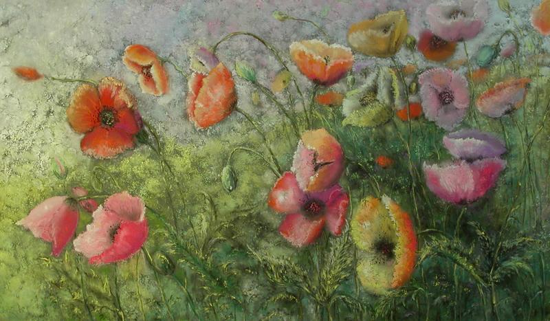 Цветы пастелью картинки 1